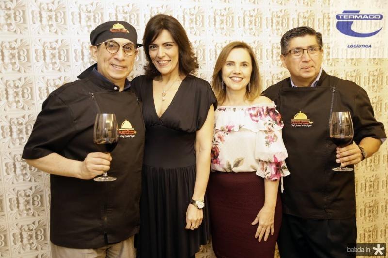 Javier Yugar, Janusa Brasil, Gyna Juca e Juan Carlos Yugar