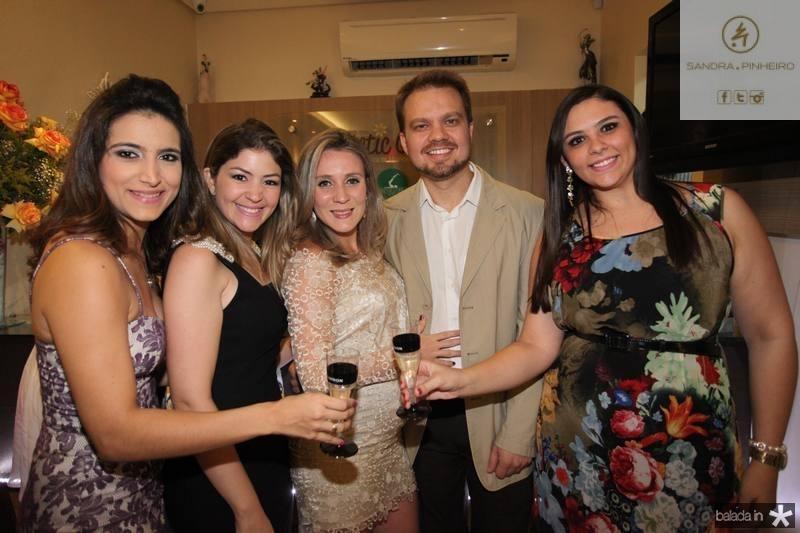 Camila Rodrigues, Vanessa Queiroz, Olga Saraiva, Valderi Vieira e Ticiane Bezerra