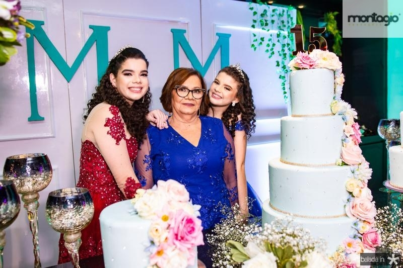 Marcela de Assis, Maria Elizeth Sousa e Manu de Assis