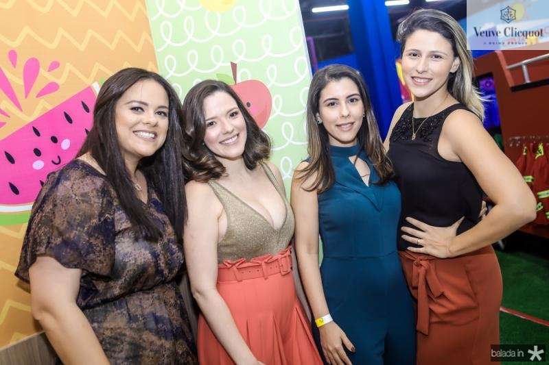 Katherine Dias, Carolina Sampaio, Karla Fernandes e Ticiane Monte