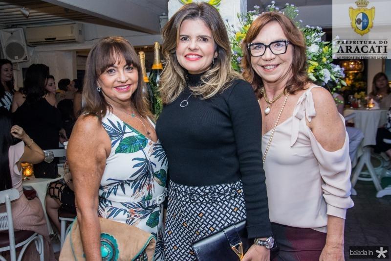 Carmen Cinira, Cristine Feitosa e Lucia Wolf