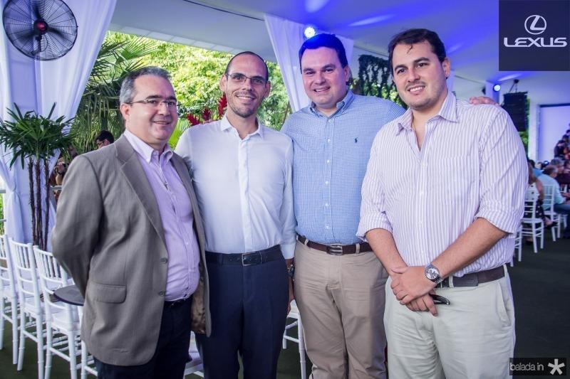 Emanuel Fontenele, Amilton Quixada, Regis Tavares e Paulo Lopes