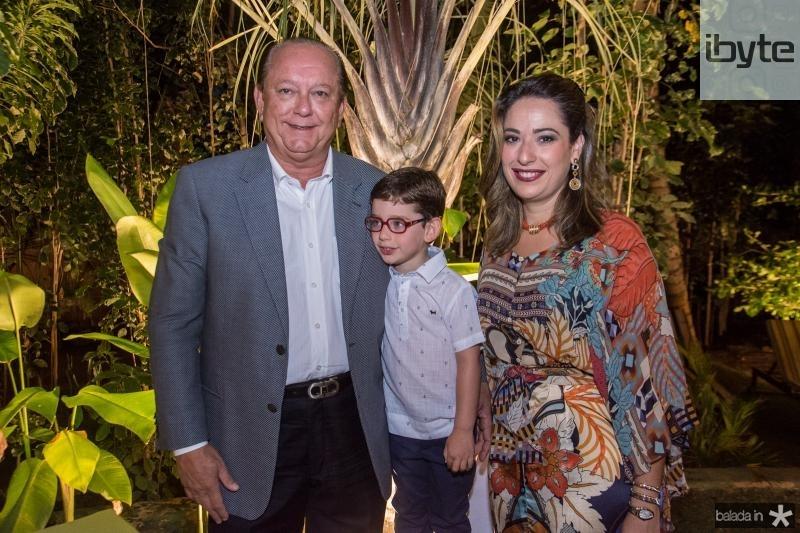 Rafael, Sylvio e Silvinha Leal