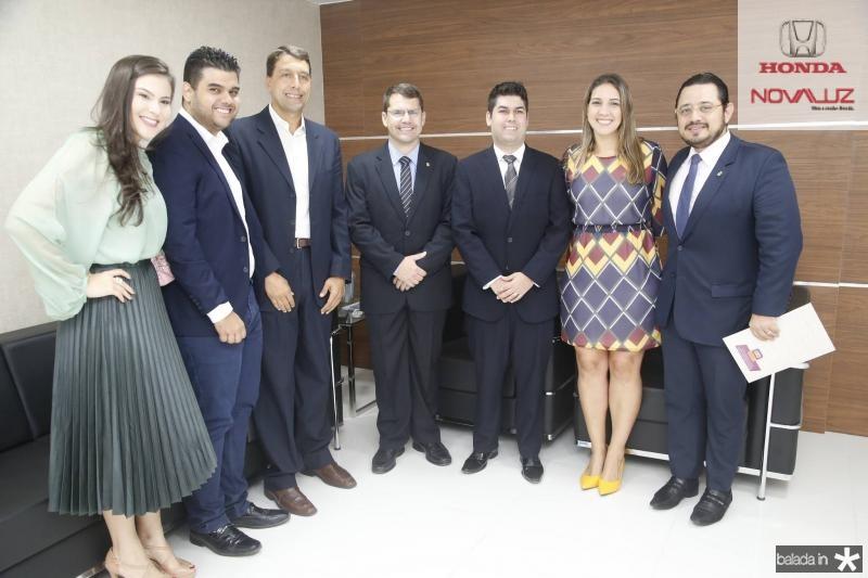 Gabriela e Davi Benevides, Gony Arruda, Rogerio Pinheiro, Mauro Benevides Neto, Larissa Gaspar e Ricardo Valente
