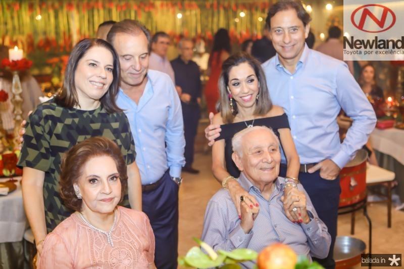 Norma, Denise, Binho, Humberto, Marcia e Sergio Bezerra