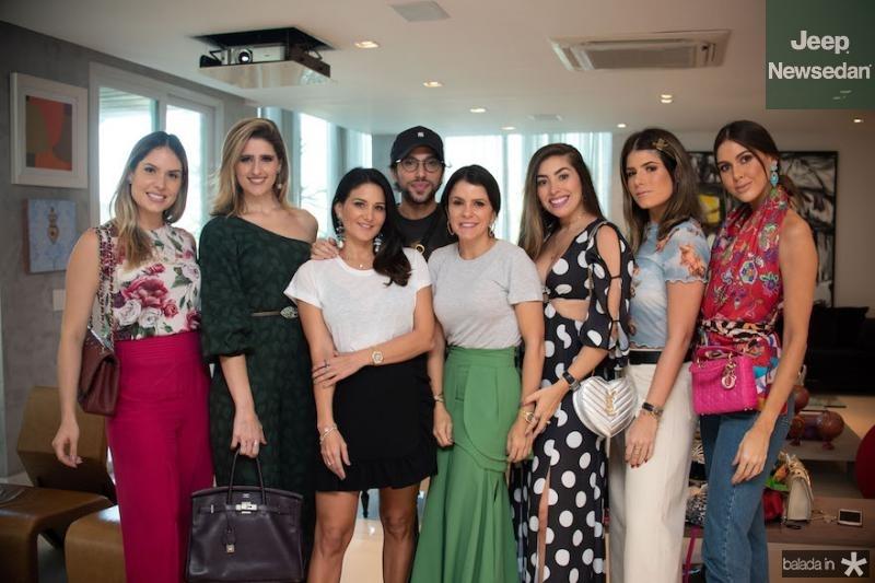 Thyane Dantas, Rebeca Leal, Aline Pinho, Aderbal Freire, Tatiana Machado, Nicole Franca, Thayna Ginepri e Mirelle Vasconcelos