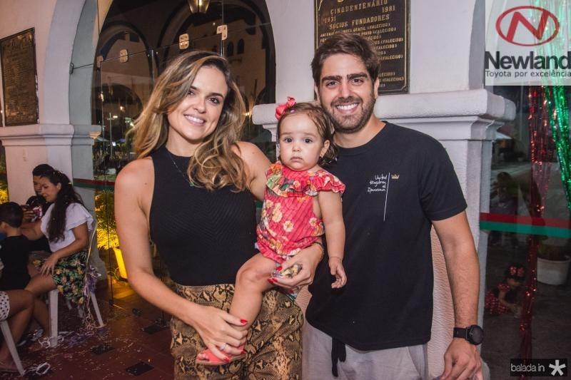 Brenna, Luiza e Edgar Ximenes