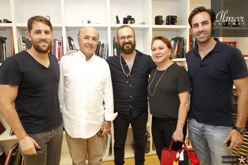 Rodrigo e Silvio Frota, Andre Liohn, Paula e Vitor Frota