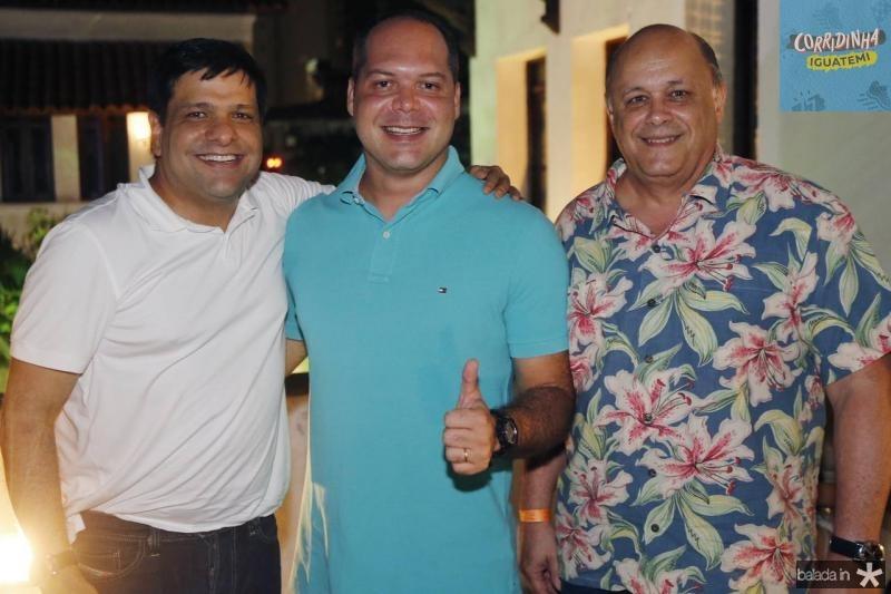 Duda Soares, Heitor Freire e Philomeno Junior