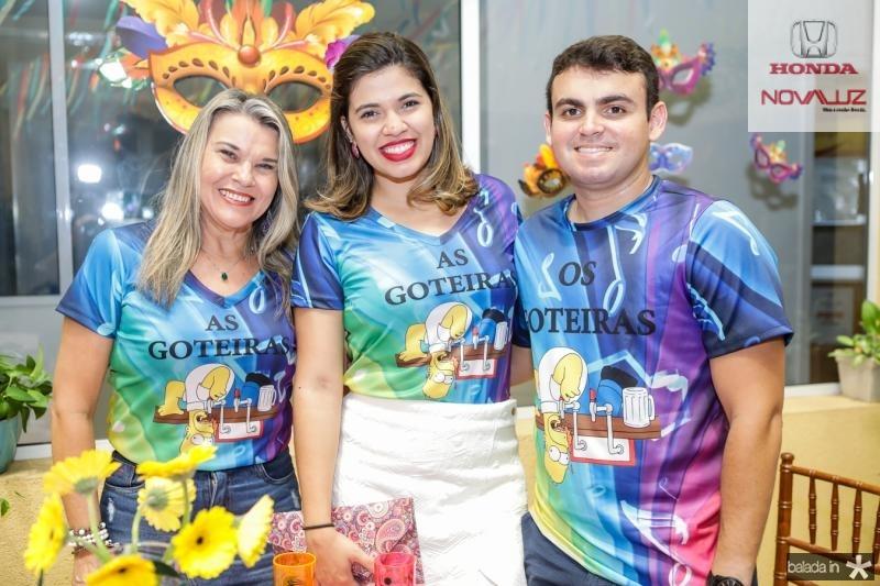 Sandra Vieira, Alessandra Vieira e Eduardo Lira