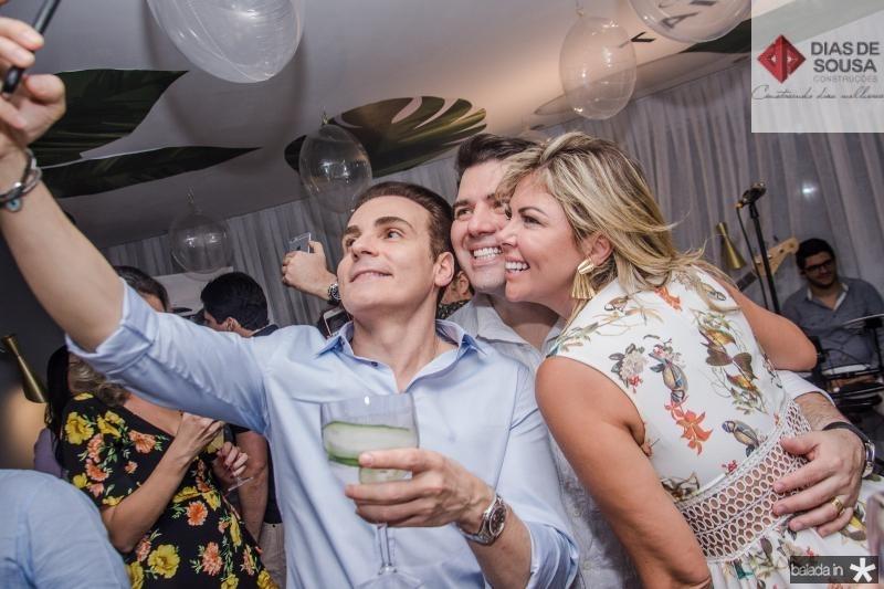Rodrigo Maia, Danilo Dias e Patricia Dias