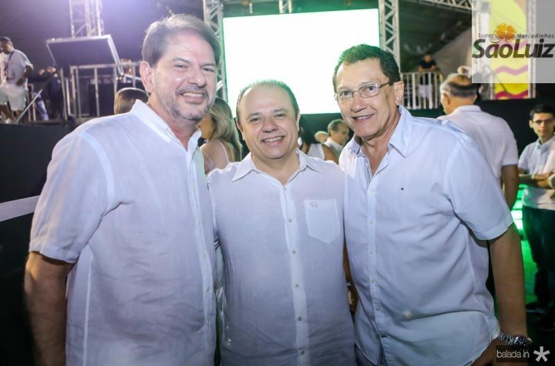 Cid Gomes, Claudio Pinho e Elpidio Nogueira