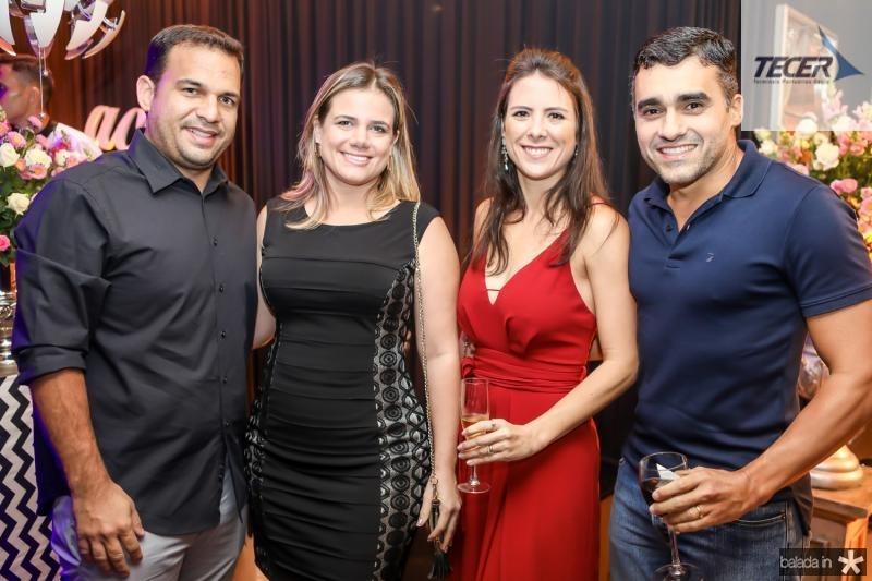 Thiago e Julia Covas, Carolina Marques e Felipe Brasil