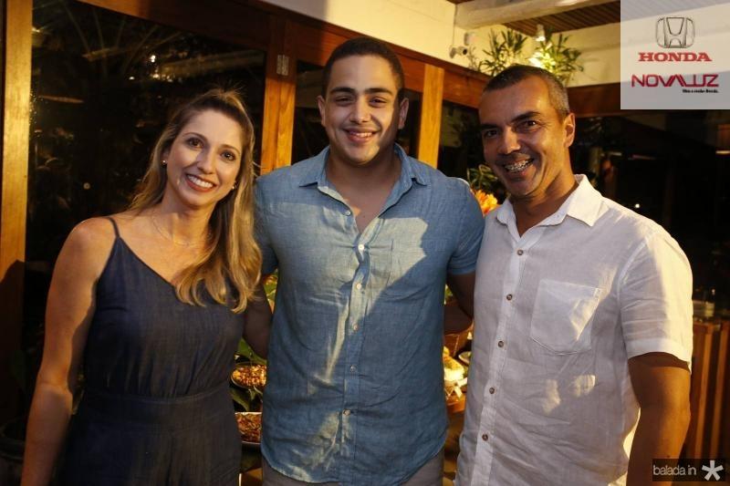 Sheila Ferreira, Rafael Pinto e Leonardo Holanda