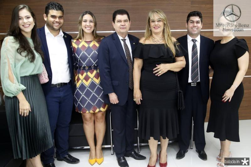 Gabriela e Devi Benevides, Larissa Gaspar, Mauro Filho, Mariza, Mauro Neto e Keliane Benevides 1