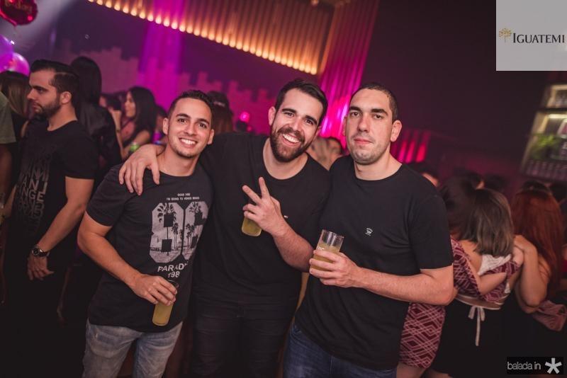 Adriano Cesar, Daniel Aquino e Davi Moreira