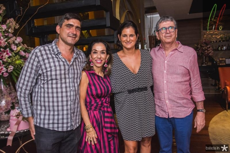 Agustin Herrero, Marcia Tavora, Cecilia Seligman e Marcio Tavora