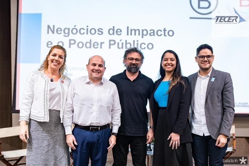 Ticiana Rolim, Roberto Claudio, Jocelio Leal, Taynaah Reis e Marcel Fukayama