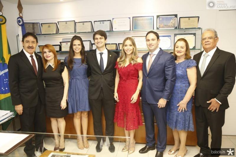 Raimundo e Veronica Gomes de Matos, Maria Isabel, Pedro Gomes de Matos, Rafaela e Thiago Asfor, Gerusa e Jose Maria Lima
