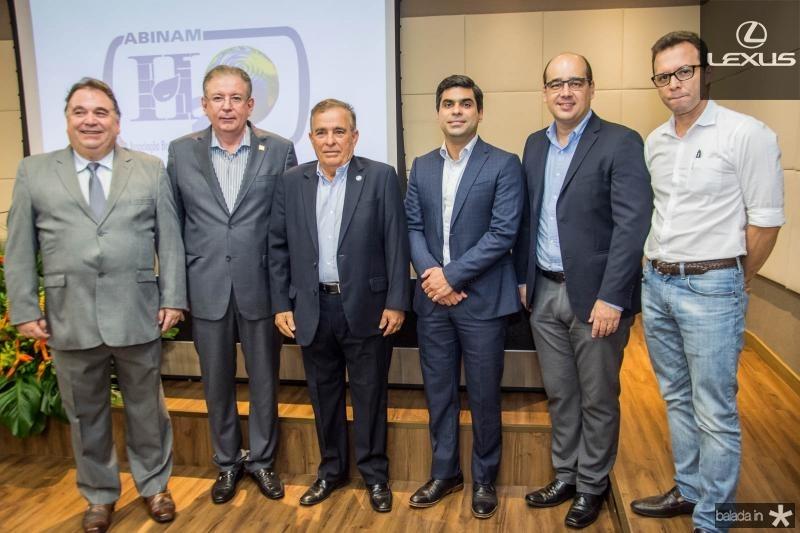 Carlos Alberto Lancia, Ricardo Cavalcante, Claudio Targino, Queiroz Filho, Arthur Ferraz e Antonio Vidal