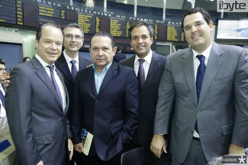 Lisandro Fujita, Carlos Pereira, Max Bezerra, Fernando Novaes e Lucio Carneiro