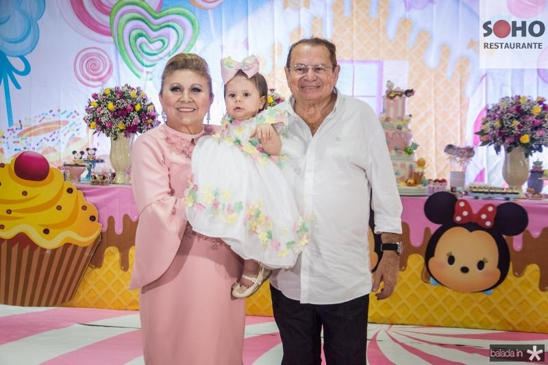 Marluce, Mirela e Jose Aragao