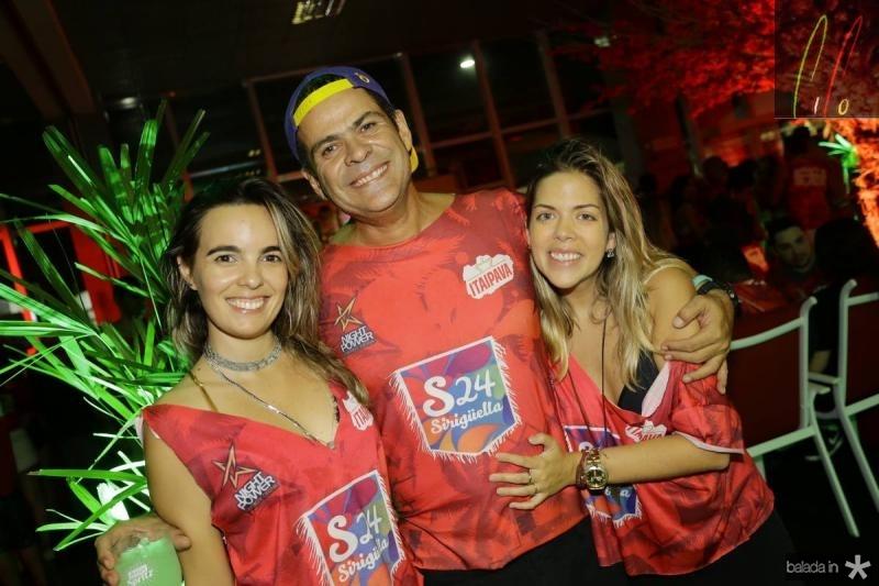 Mayara Mota, Miguel Saboya e Livia Carvalho