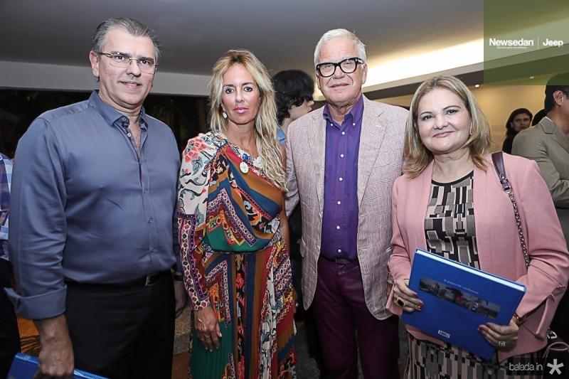 Randal Pompeu, Agnes e Christian Pellerin, Lenise Rocha