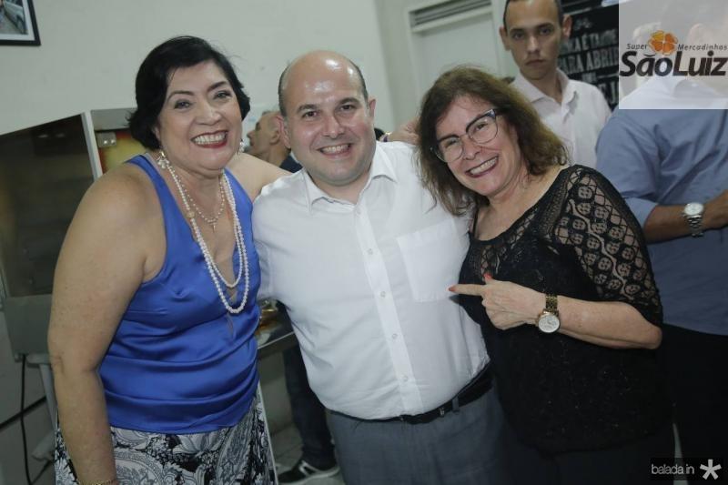Mara Rodrigues, Roberto Claudio e Eliane Miguel