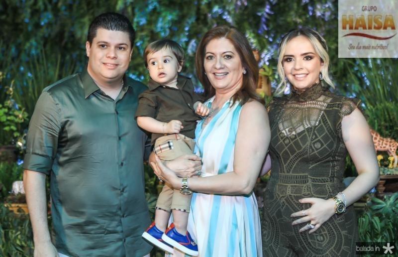 Bruno Aragão, Eudes Neto, Lurdes e Carolina Aragão