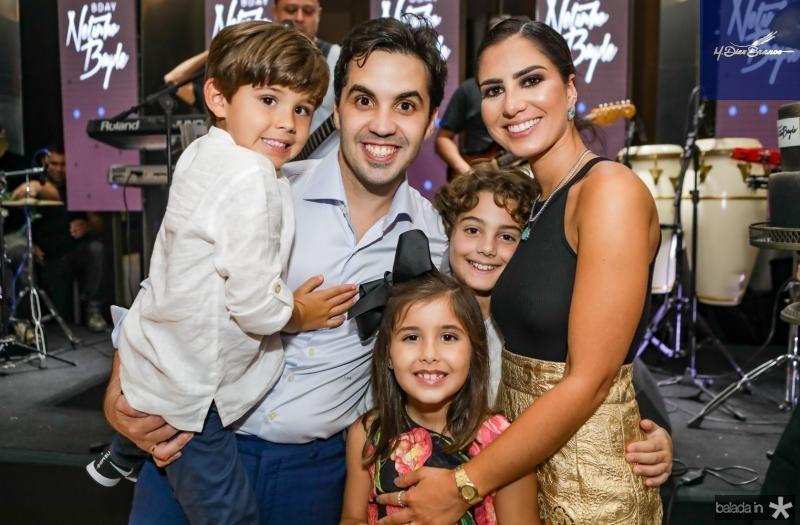 Antonio, Netinho e Liz Bayde, Joaquim Cavalcante e Nicole Pinheiro