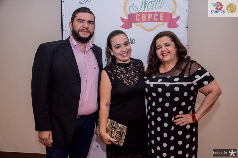 Marcelo Caetano, Elaine Albuquerque e Clivania Teixeira