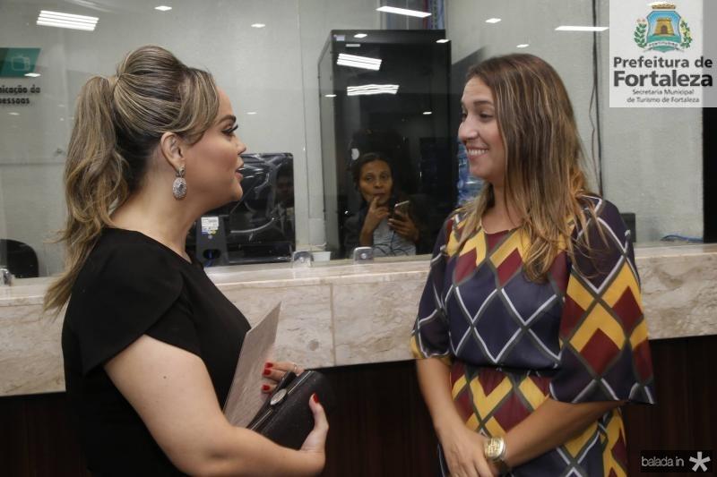 Keliane Benevides e Larissa Gaspar