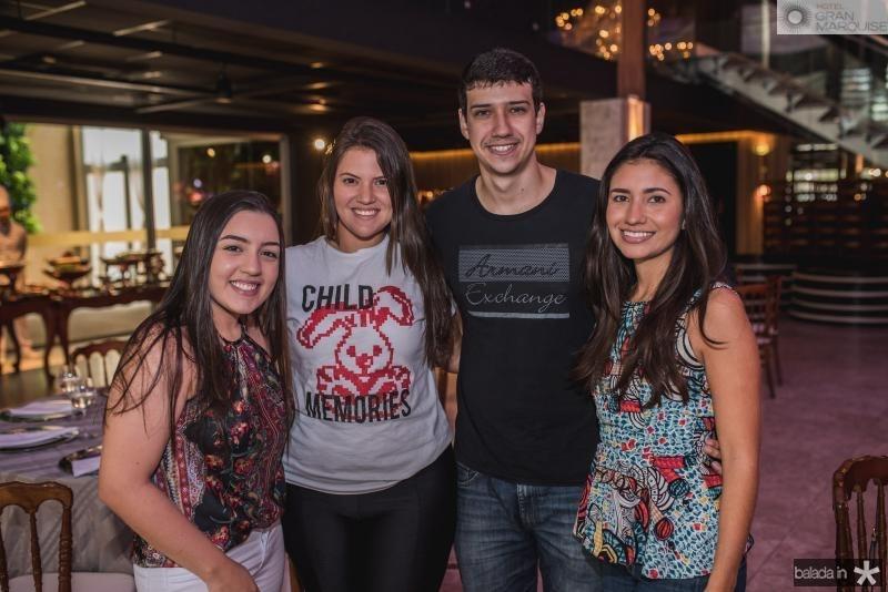 Livia Silveira, Amanda Vasconcelos, Gustavo Carvalho e Sarah Alencar
