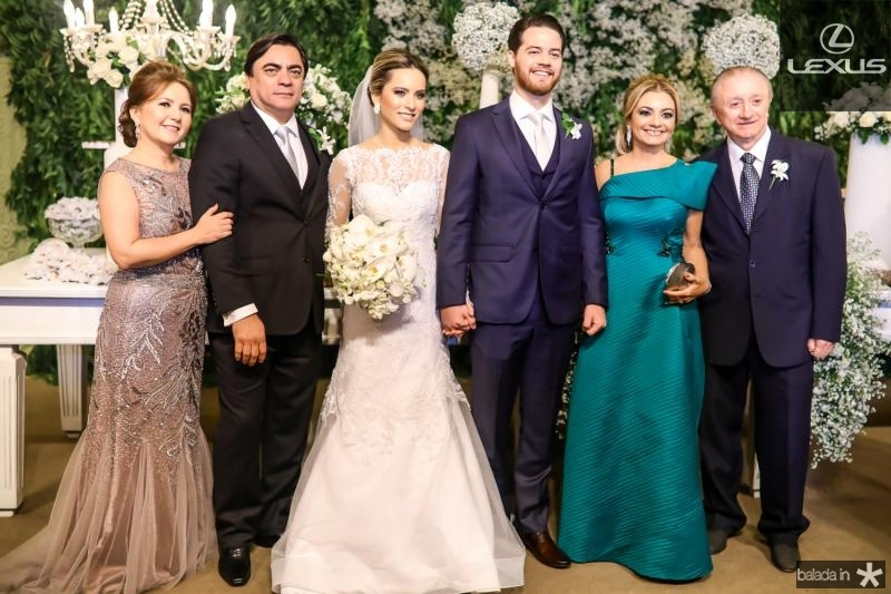 Eveline, Edson e Larissa Peixoto, Luiz Ana Cristina e Luiz Camelo