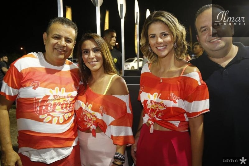 Valdir e Samara Fernandes, Juliana e Rodrigo Roma