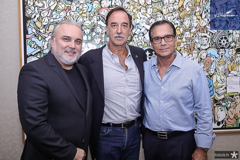 Jean-Paul Prates, Armando Abreu e Beto Studart