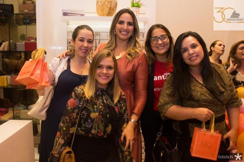 Carol Pinheiro, Mariana Queiroz, Fladia Campos, Flavia Silveira e Ariana Fernandes