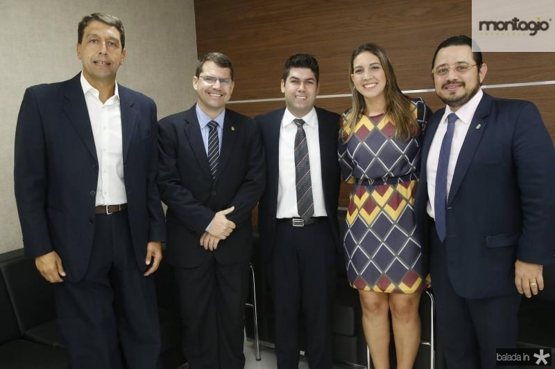 Gony Arruda, Rogerio Pinheiro, Mauro Benevides Neto, Larissa Gaspar e Ricardo Valente