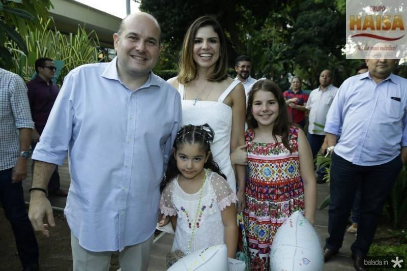 Roberto Claudio, Roberta, Carol e Isabela Bezerra