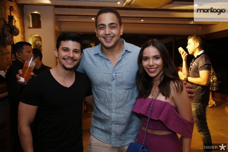Pedro Paulo, Rafael Pinto e Nicole Vasconcelos
