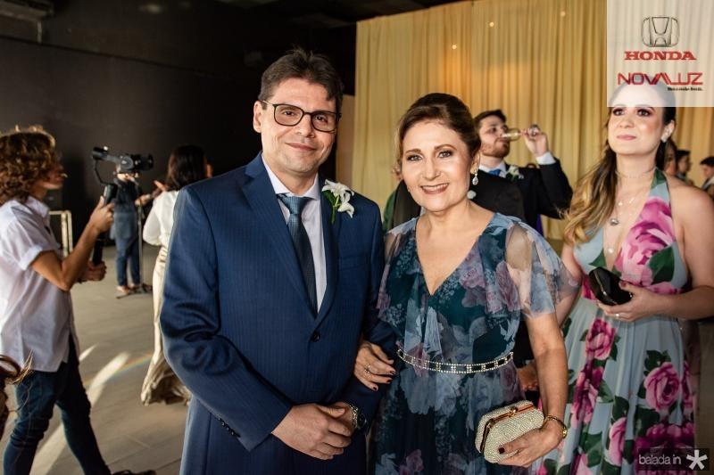 Amando Albuquerque e Claudia Andrade