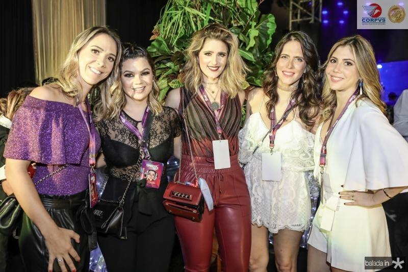 Livia Vieira, Dani Brandao, Rebeca Leal, Marcela Porto e Bia Rolim