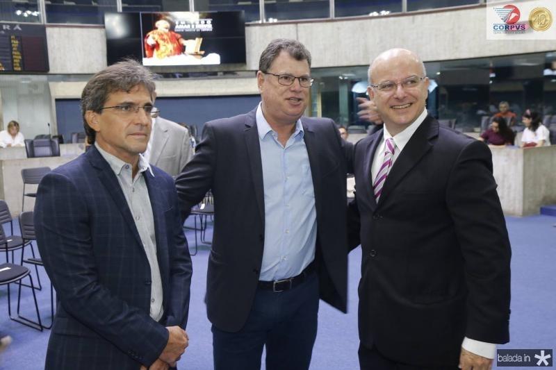 Adalberto Machado, Tiberio Burlamaque e Alexandre Garcia