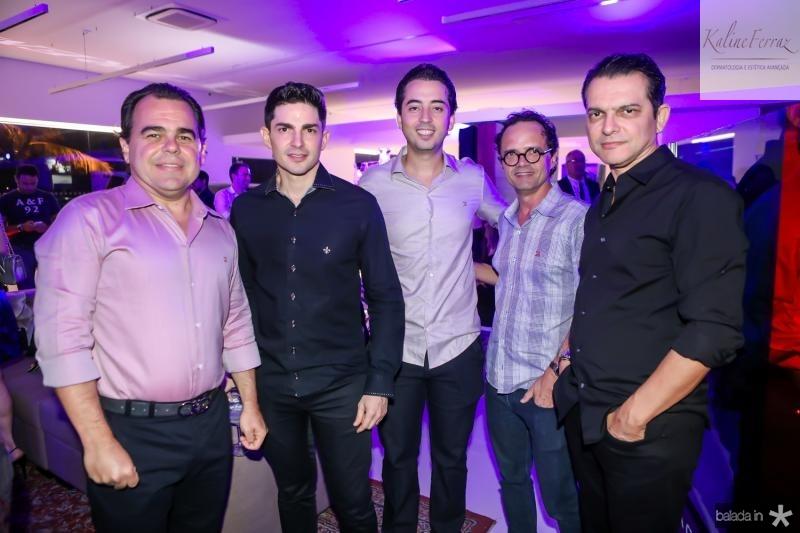 Gentil Linhares, Jonatan Magalhaes, Victor Moreira, Assis Carvalho e Claudio Moreira