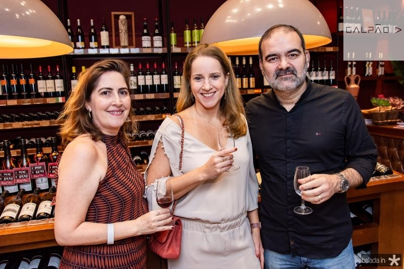 Luciana Guedes, Sabine Martins e Bosco Couto