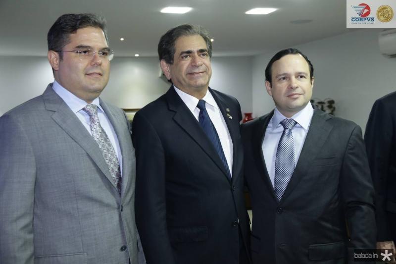 Edson Queiroz Neto, Zezinho Albuquerque e Igor Queiroz Barroso