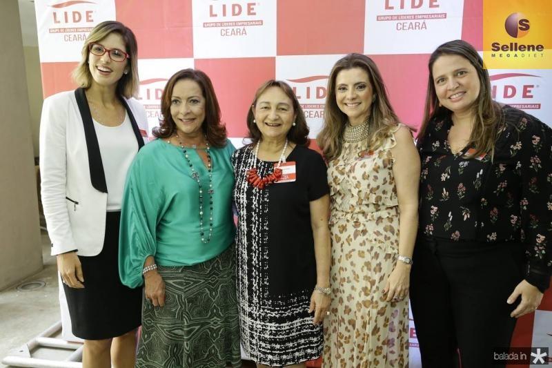 Marilia Fiuza, Sandra Costa, Graca Dias, Emilia Buarque e Luciana Colares