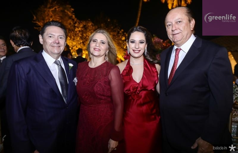 Ivens Junior e Morgana Dias Branco, Silvinha e Rafael Leal