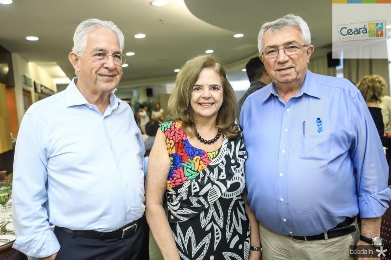 Carlos Prado, Roseane Medeiros e Roberto Macedo